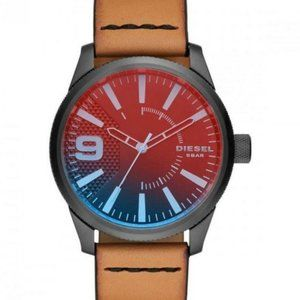 Diesel DZ1860 Iridescent Dial Brown Leather Watch